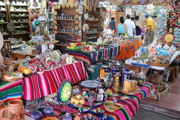 Mercado de artesanato em Cancún