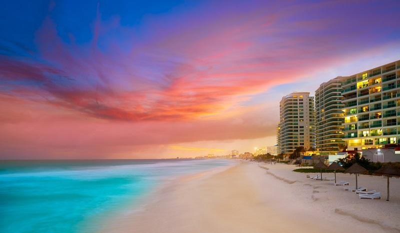 Atardecer en Cancún