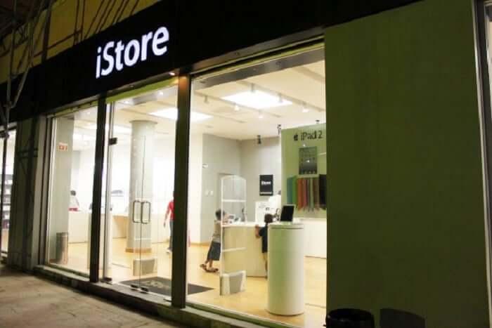 iStore no Shopping La Isla em Cancún