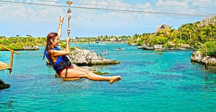 Parque Xel-Há na região turística de Cancún
