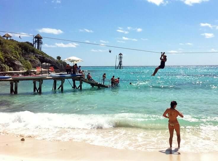 Ilha Isla Mujeres no inverno em Cancún