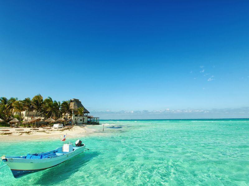 Praias no inverno em Cancún