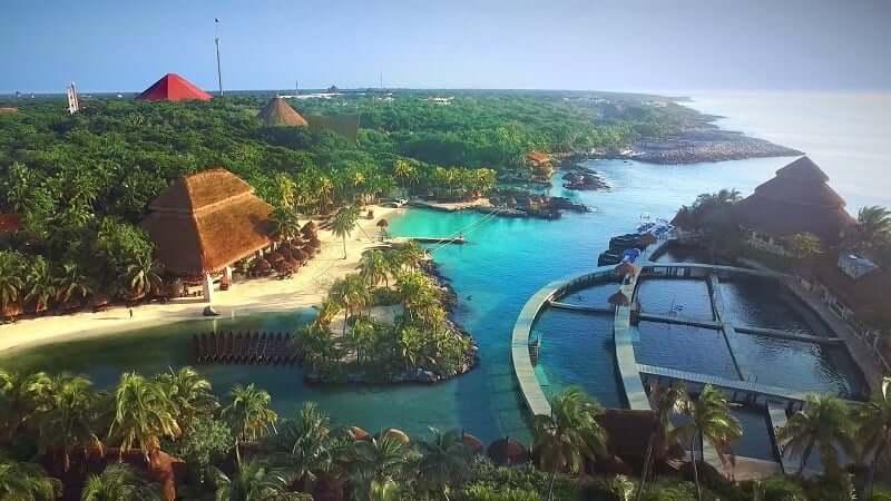 Espaço do Parque Xcaret em Cancún