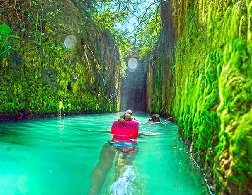 Principais atrações do Parque Xcaret em Cancún: Rios Subterrâneos