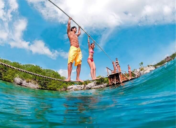 Atrações no Parque Xel-Há em Cancún - Rio Xel-Há