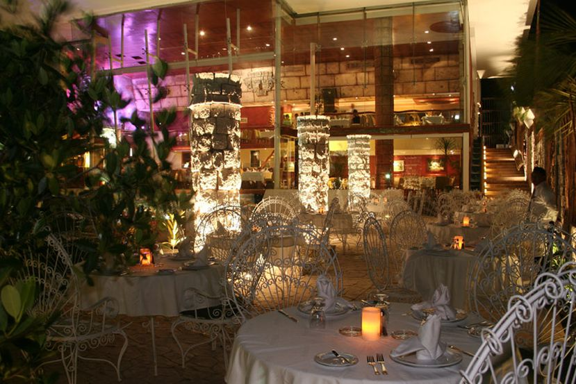 Restaurante La Rabichuela Sunset no Ano Novo em Cancún
