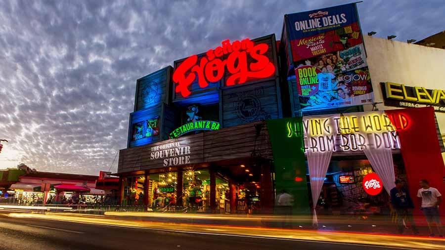 Bar Señor Frogs no Ano Novo em Cancún