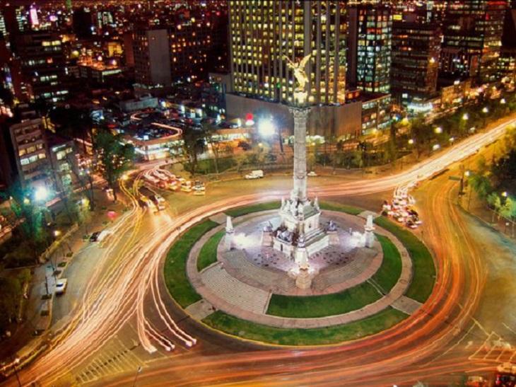 Pontos turísticos na Cidade do México