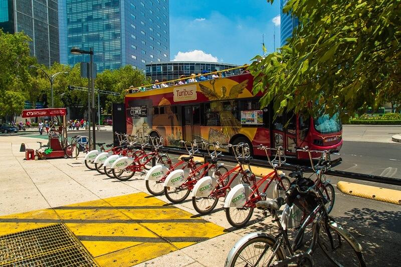 Andar de bicicleta na Cidade do México