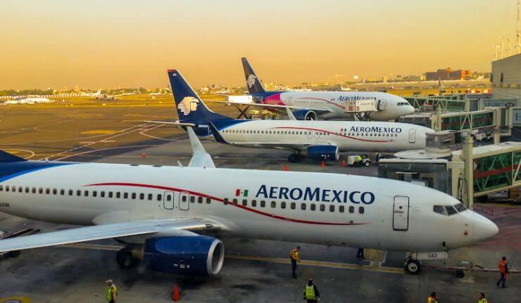 Tempo médio de uma viagem de avião até a Cidade do México