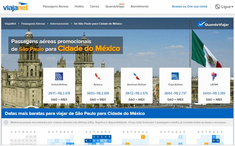 Ferramenta para achar passagens em promoção para a Cidade do México