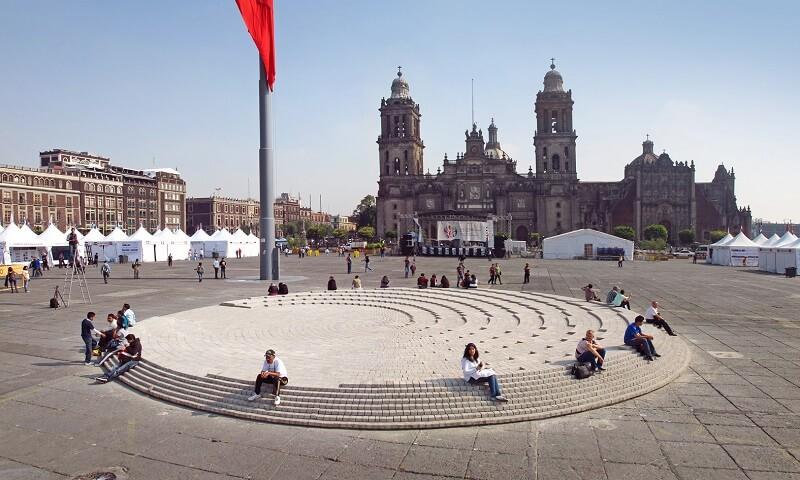 Zócalo para lua de mel na Cidade do México