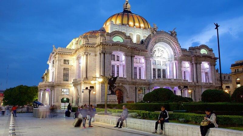 Palácio de Bellas Artes na Cidade do México