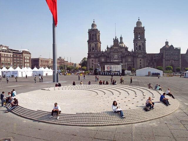 Praça Zócalo na Cidade do México