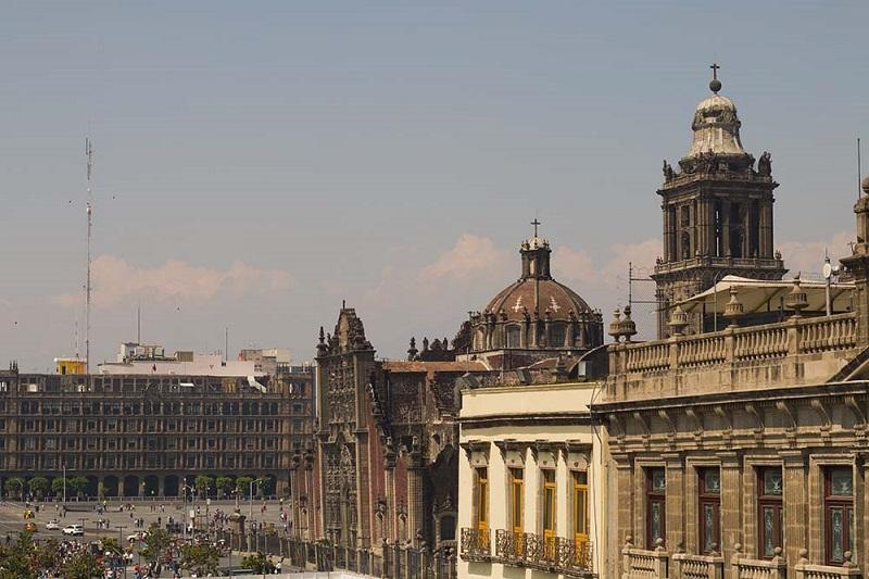 Histórico da Praça Zócalo na Cidade do México