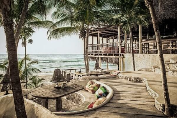 Restaurante sofisticado Papaya Playa em Tulum