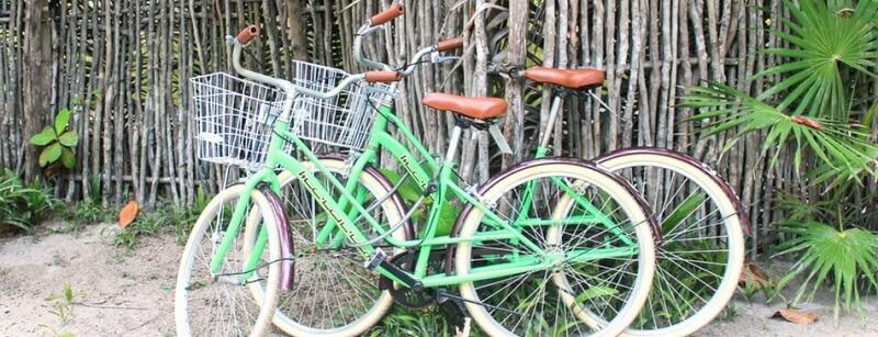 Andar de bicicleta em Tulum