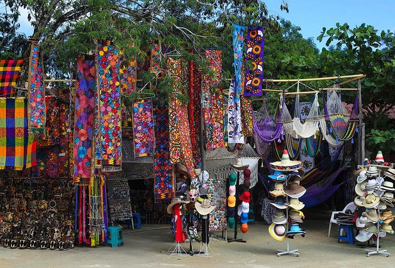 Região de compras em Tulum
