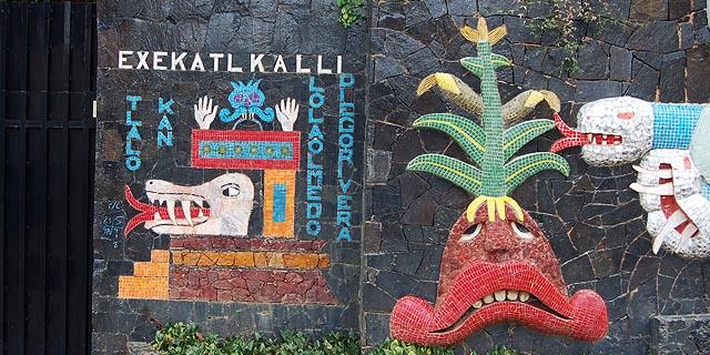 Inverno no Murais de Diego Rivera na Exekatlkalli em Acapulco