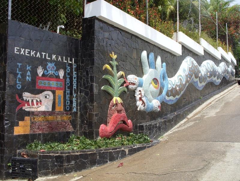 Murais de Diego Rivera na Exekatlkalli no Museu Galeria Dolores Olmedo em Acapulco