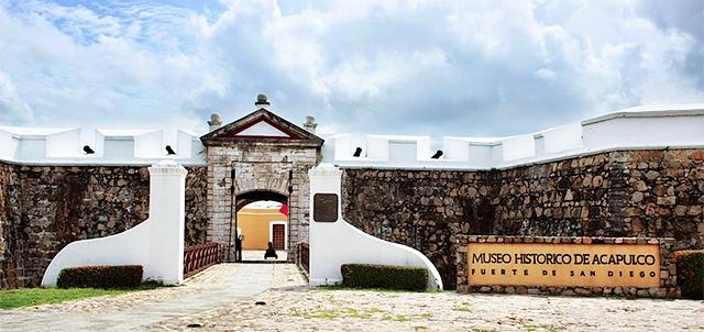 Inverno no Forte de San Diego e Museu Histórico de Acapulco em Acapulco