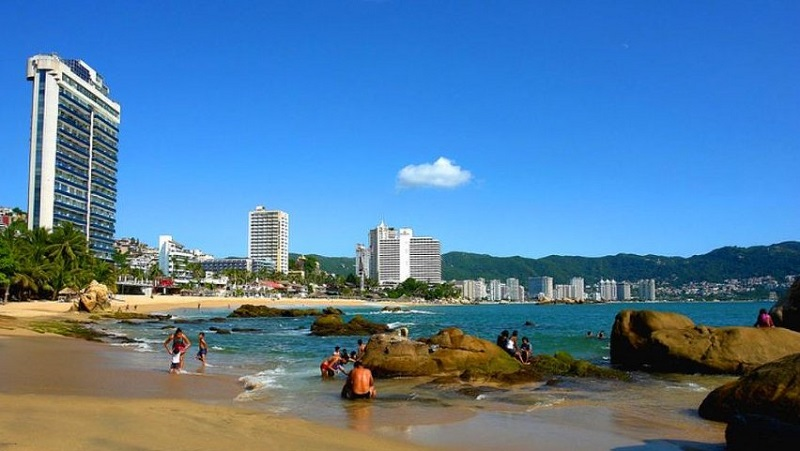 Verão nas praias em Acapulco