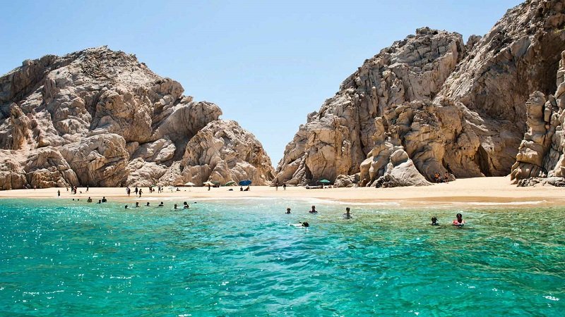 Playa en Los Cabos en México