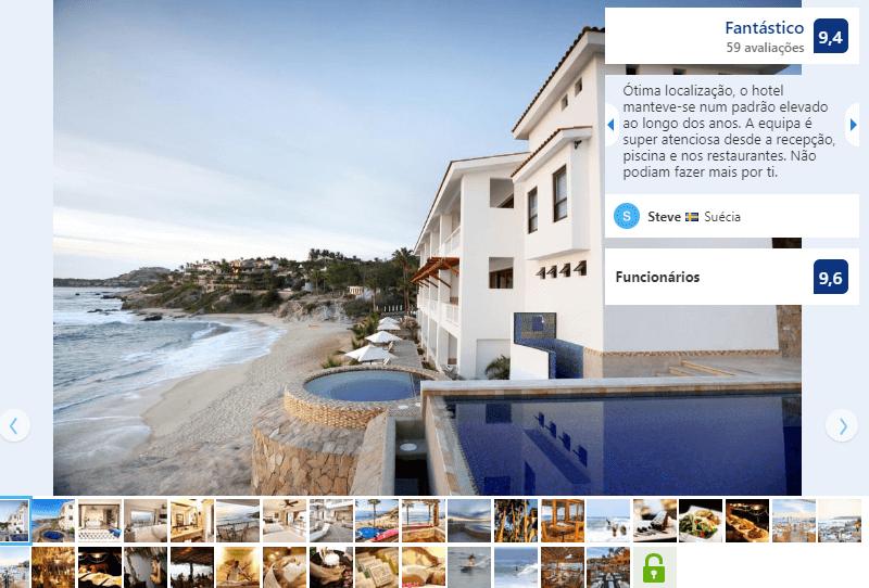 Fachada del Hotel Cabo Surf en Los Cabos en San José del Cabo
