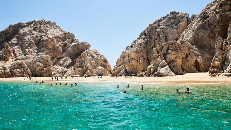 Playa del Amor en un recorrido de viaje en Los Cabos