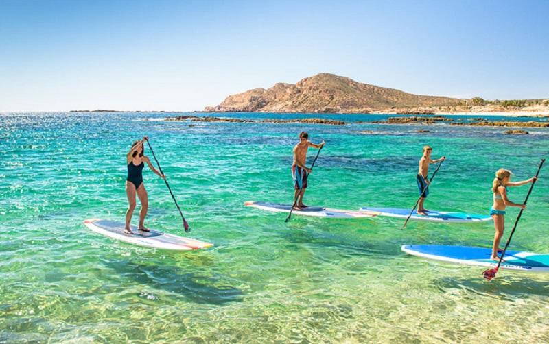 Stand up en Playa Chileno Bay en Los Cabos