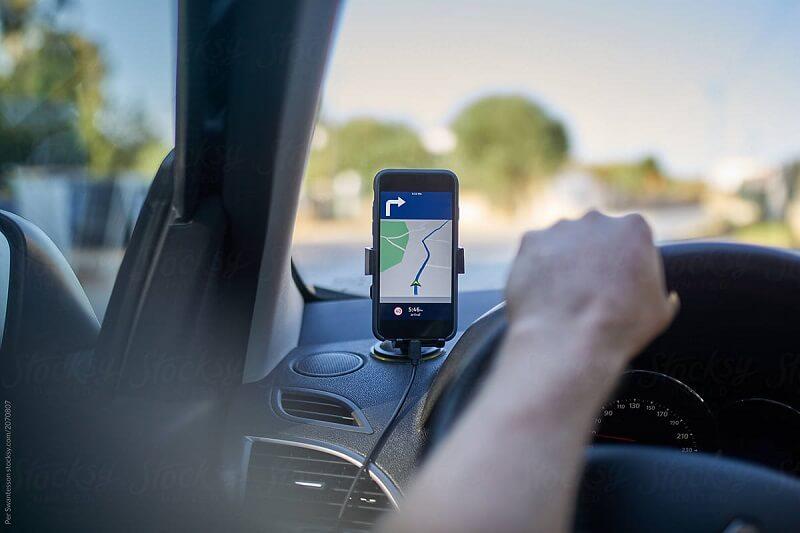 GPS no celular - Automóvel