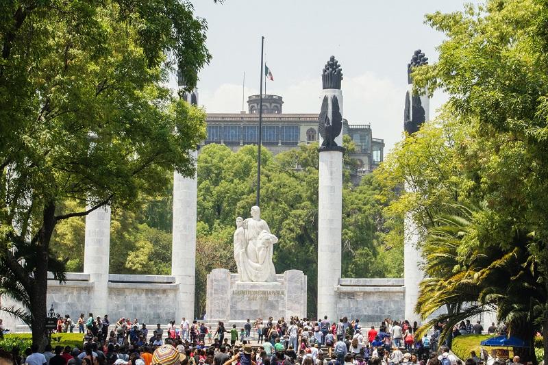 Personas en el Bosque de Chapultepec en Ciudad de México