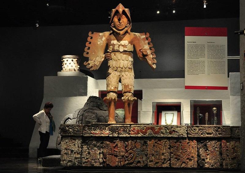 Interior del Museo del Templo Mayor en Ciudad de México