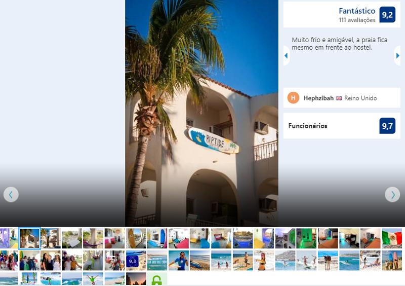 """Fachada do Surf Hostel Cabo """"The Riptide"""" en Los Cabos"""