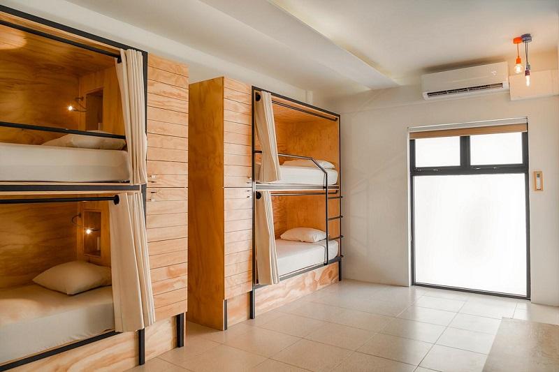 Habitación del Hostel Nomads Boutique Hotel & Hostel en Cancún