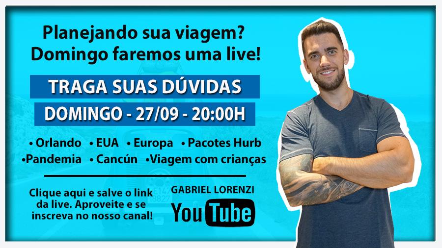 Venha participar da nossa Live no Youtube!