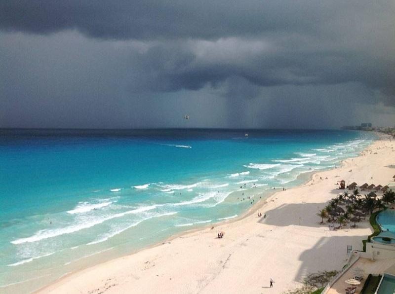 Lluvia en Cancún